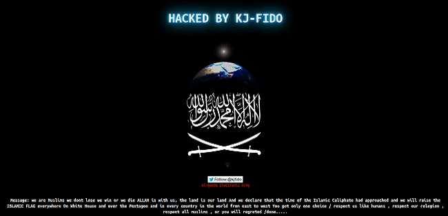 """Hacker group """"Al-Qaeda Electronic Army"""" defaces Government websites of Brasil in support of Al-Qaeda."""