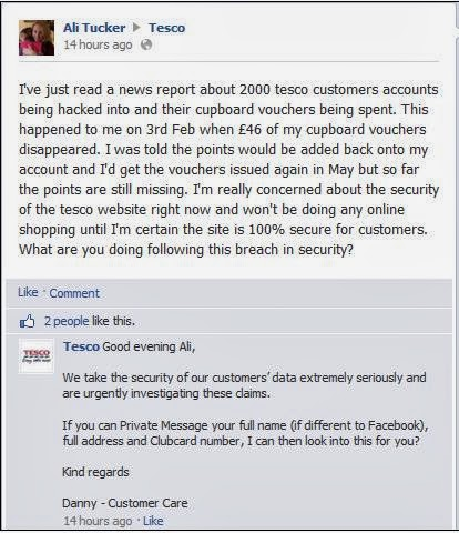 2250 'Tesco customers' log-in ids and passwords leaked, customers vent their fury on Facebook