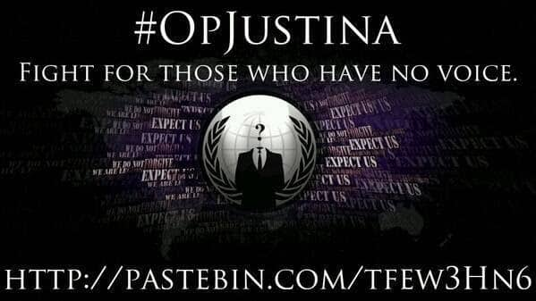 Anonymous start #OpJustina to support Justina Pelletier to be returned to her parents