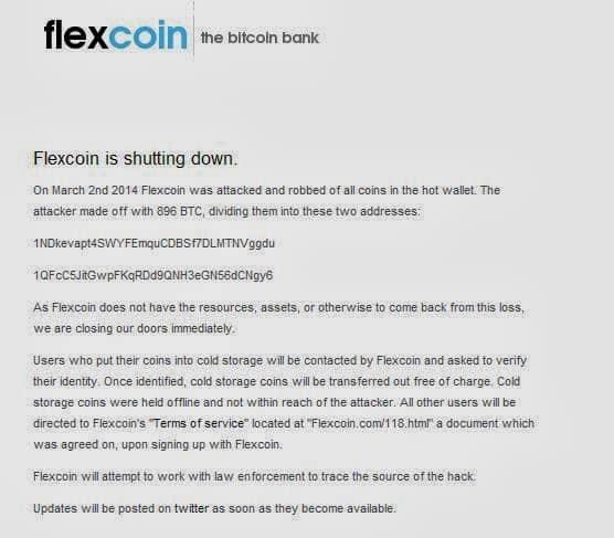 Flexicoin Bitcoin Bank and Poloniex Bitcoin Exchange hacked