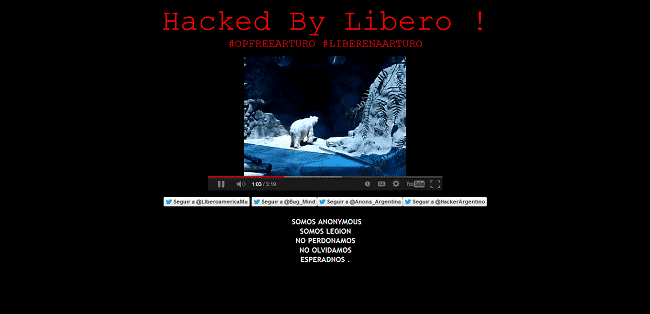 "Argentinian hackers get together for Polar ""Bear Arturo"", hack government websites to bring world attention"