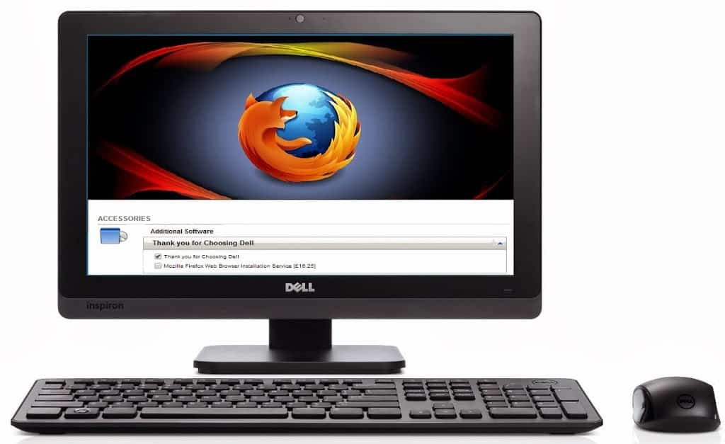 Dell charges £16.25 for Firefox installation on PC's ordered online.