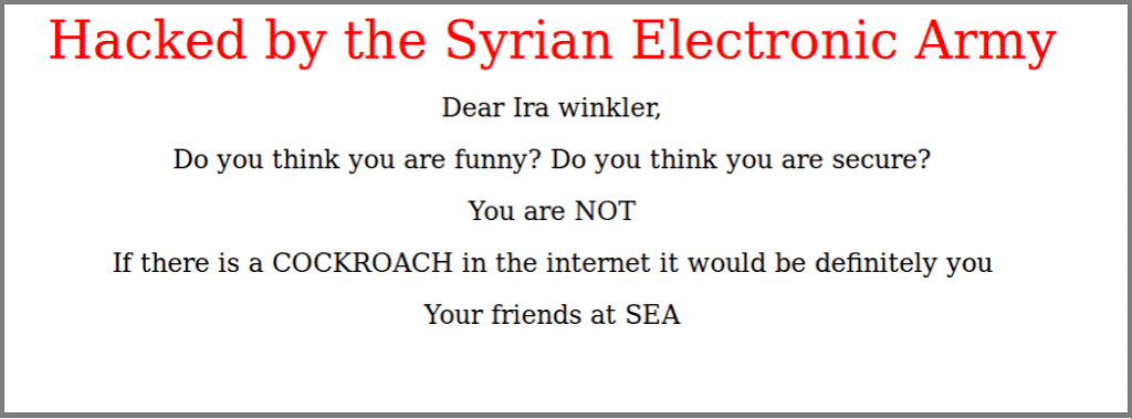 Syrian Electronic Army hacks RSA Conference website after presentation at rsa conference irks them