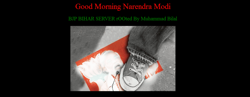BJP Punjab and Bihar unit's website defaced by Pakistani hacker