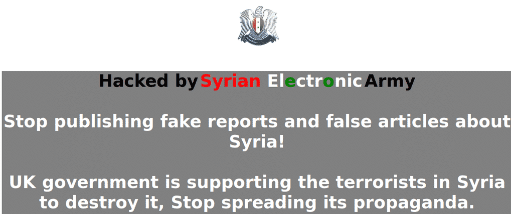 Syrian Electronic Army hacks The Sunday Times and The Sun's website