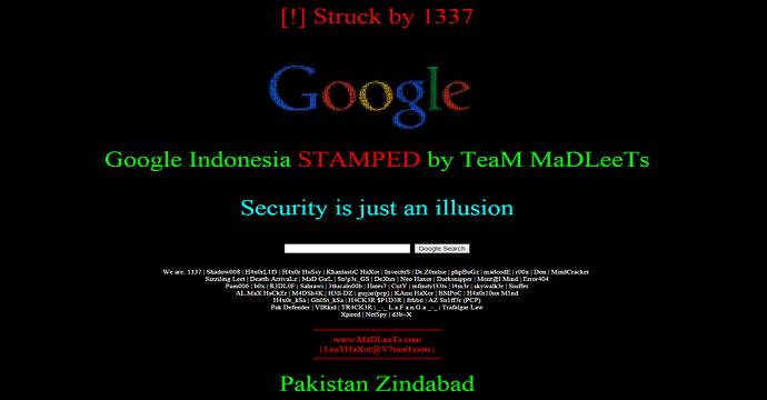 Google Indonesia Hacked, Defaced by Team MaDLeeTs