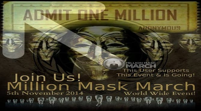 Anonymous- Million Mask March 2014