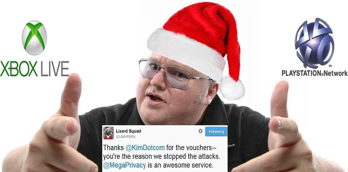 Kim 'Santa' Dotcom plays PSN and Xbox Live gamers saviour, stops Lizard Squad attacks