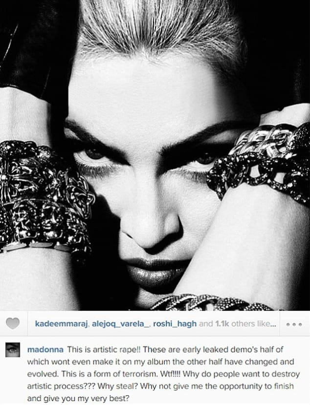 Madonna's 'Rebel Heart' leaked, she blames hackers!