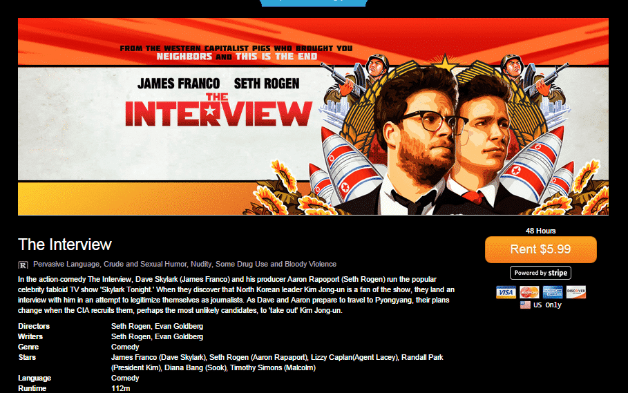 Sony to Release 'The Interview' on Google Play, YouTube Movies, Xbox Video and seetheInverview.com