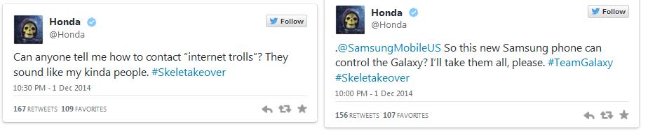 Honda's Twitter Account hacked