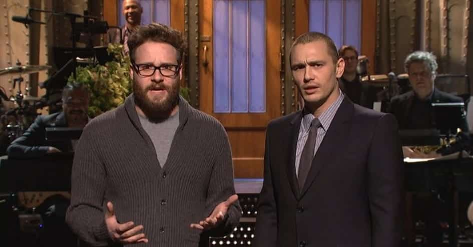 The Interview star James Franco jokes about Sony Hack Attack on SNL