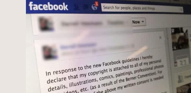 Facebook 'Copyright' Hoax Message
