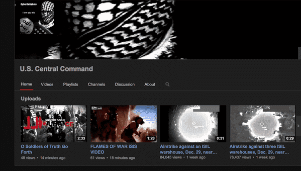United States Central Command (Centcom) Twitter and Youtube Account Hacked By ISIS Hacker