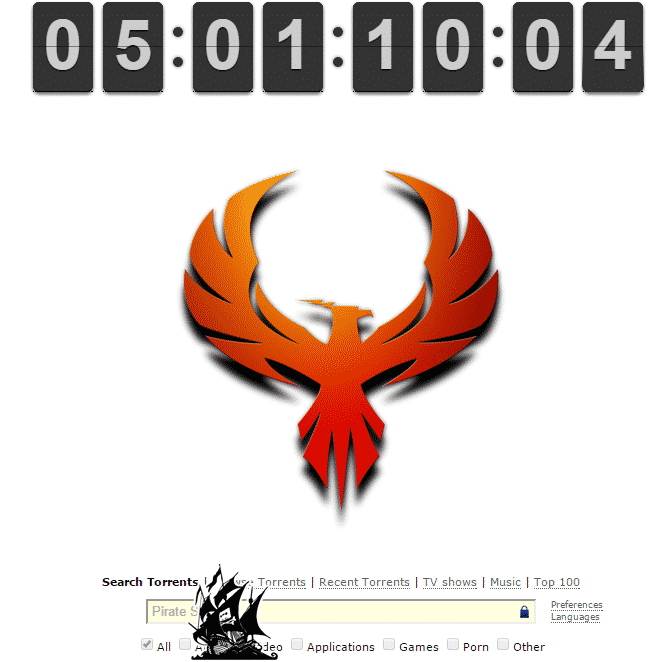With less than 5 days to go, The Pirate Bay puts up PHOENIX hinting at February 1 come back