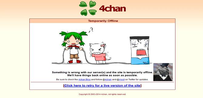 4Chan DDoSed by Lizard Squad's DDoS Rent-A-Tool Lizard Stresser
