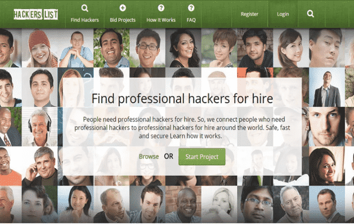 Hackers List; Hack renting portal lets you hire hacker in minutes
