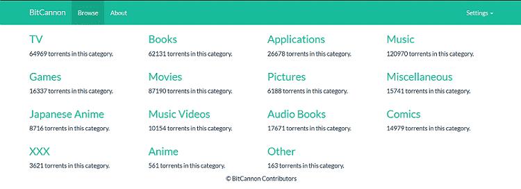 BitCannon, Download Torrents website to use offline