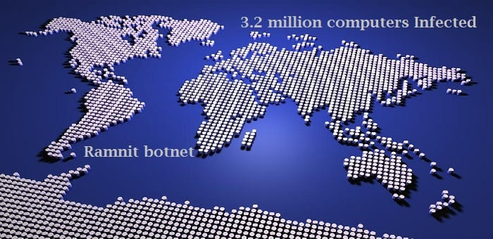 Europol swoop shuts down Ramnit botnet malware campaign which infected 3,200,000 computers worldwide