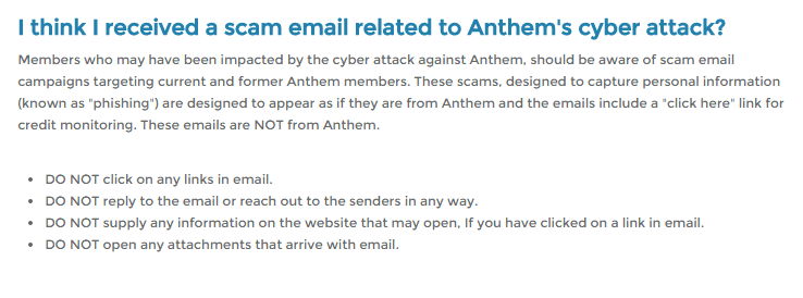 Anthem Customers beware Email Scam Targets Anthem Hack Victims