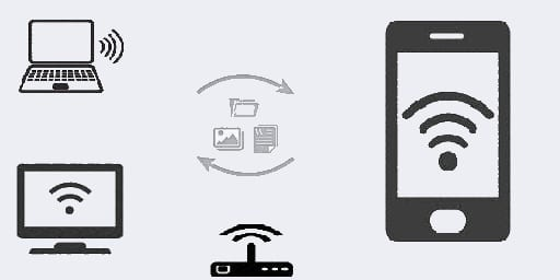 how to send files from pc to mobile using wifi