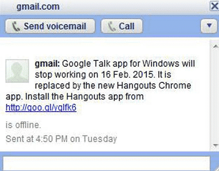 Google to Shut down Gtalk Messenger on February 16th
