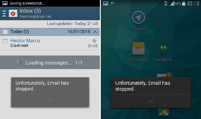 Stock Google Email App for Android Vulnerable to Hacking