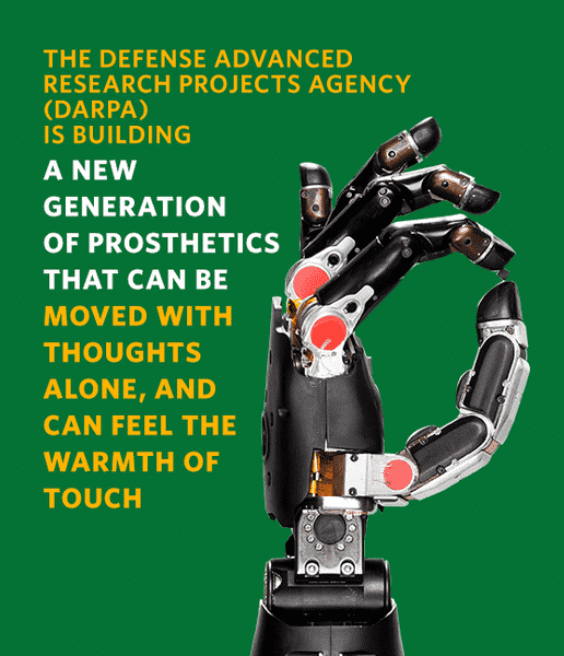 DARPA's HAPTIX Starts Work to Provide Sense of Touch in Prosthetic Hands
