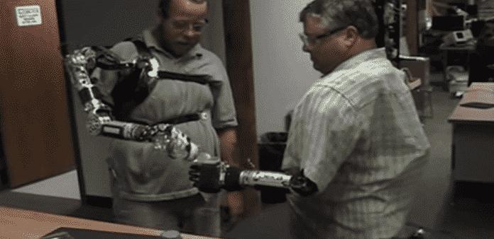 DARPA's DEKA robotic arm helped war veteran to climb again