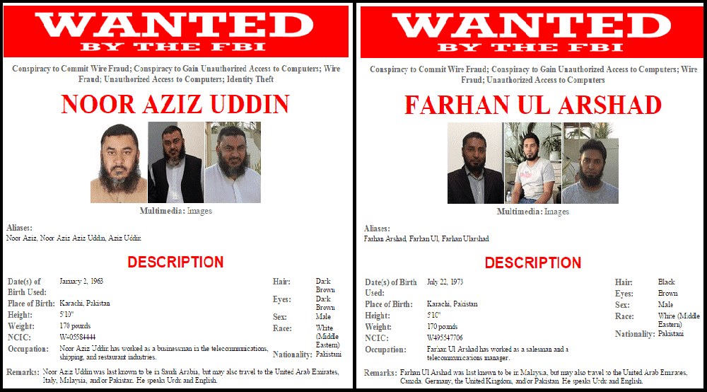 Two of the FBI Most wanted Cyber criminals Arrested in Pakistan