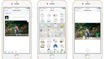 Facebook allows users to add stickers to their images from their smartphone Facebook App