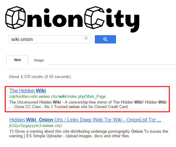 Onion.city a new search engine to search .onion Tor website with normal web
