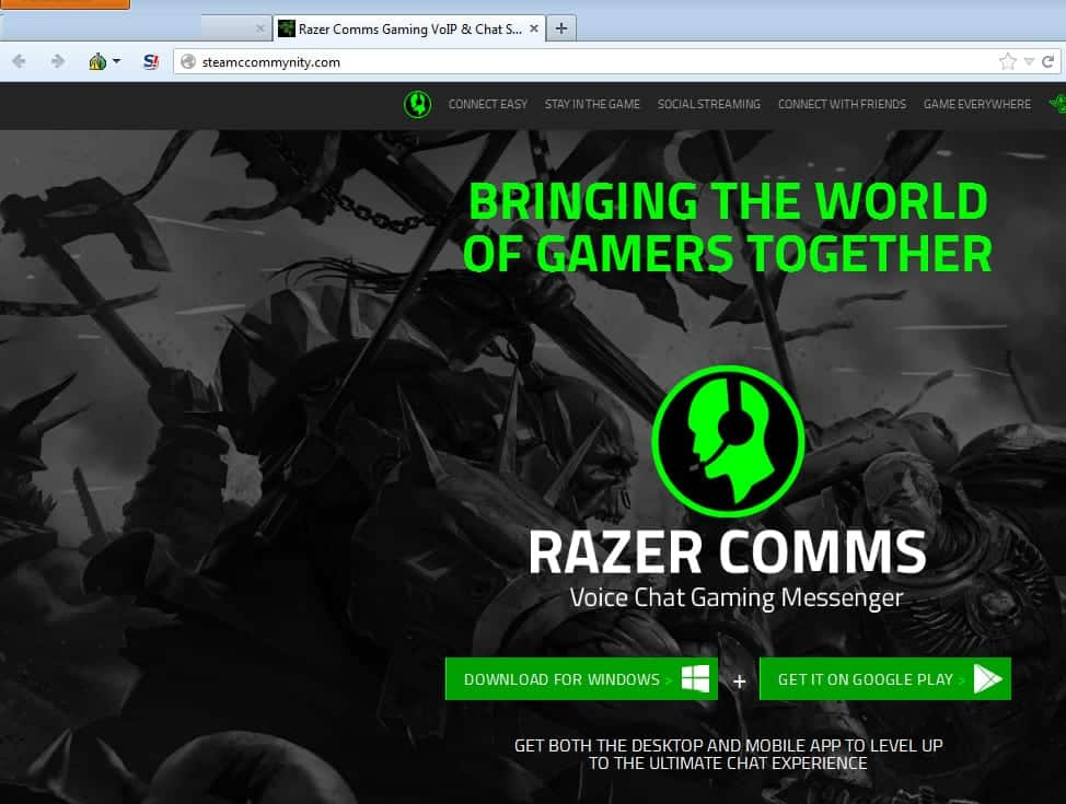 Fake Voice Chat Website for Steam Gaming Serves Up Spyware