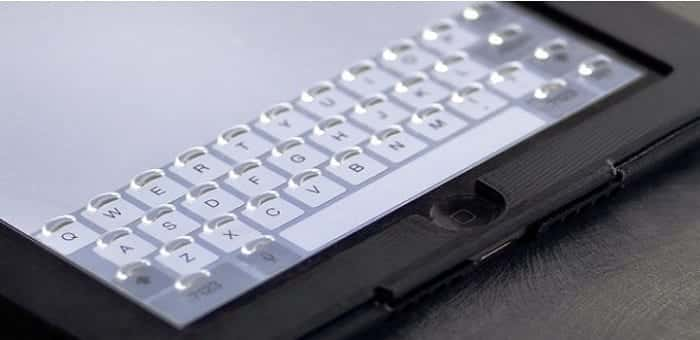 Tactus Morphing Touchscreen Keyboard coming soon for iPad