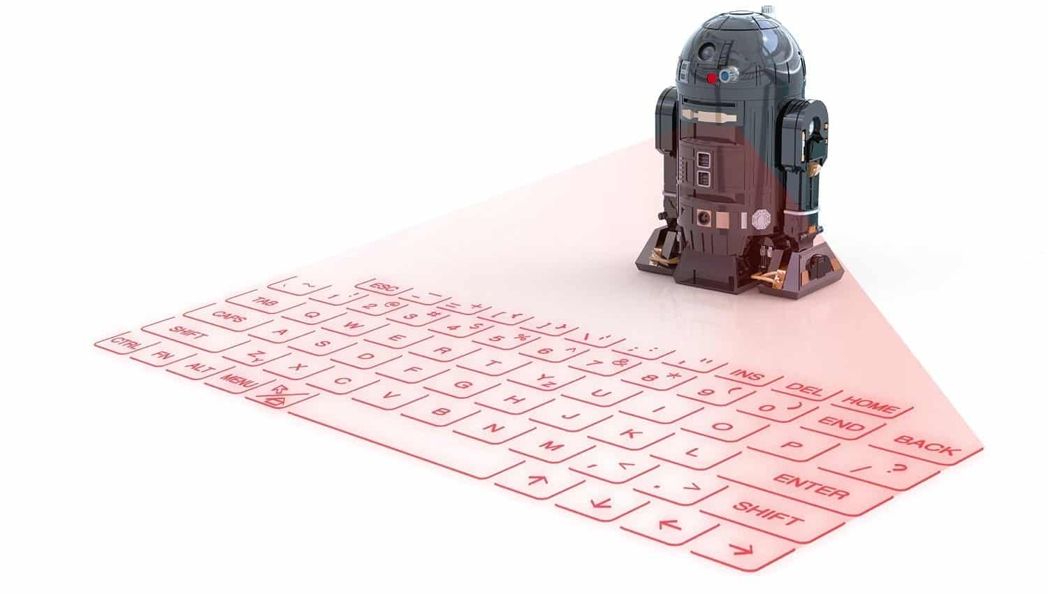 Star Wars droid projector that projects a Virtual Keyboard on any Surface