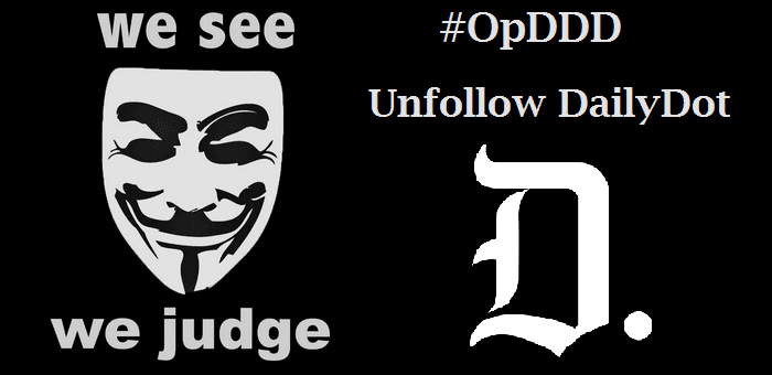 OpDDD: Anonymous urges to member to unfollow DailyDot after Sabu writes for it