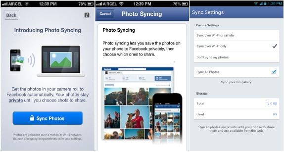 Facebook Photo Sync feature vulnerable to leaking users personal photos