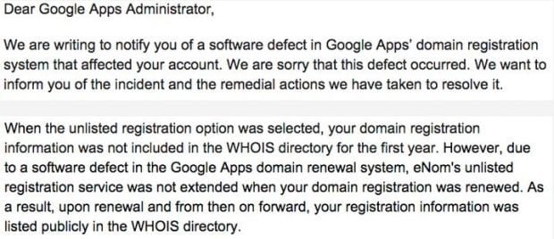 Google Apps System leaks private information of over 282,867 protected domains exposing them to identity thefts and spamming