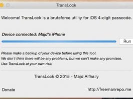 Translock brute force tool can hack any jailbroken iPhone, released on GitHub