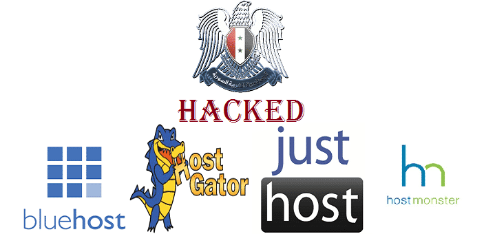 Syrian Electronic Army hacks Bluehost, Justhost, Hostgator and Hostmonster