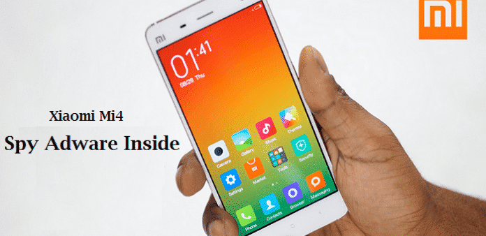 Xiaomi Mi4 comes with spy adware and a forked Android OS