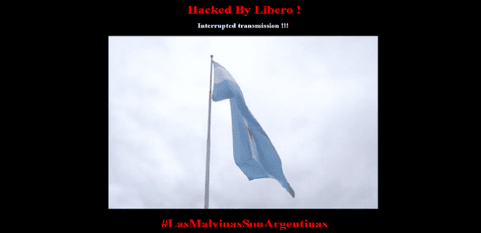 Anonymous member 'Libero' hacks Malvinas TV and Radio websites