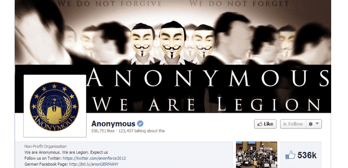 Anonymous just lost verified badge on Facebook, but why?