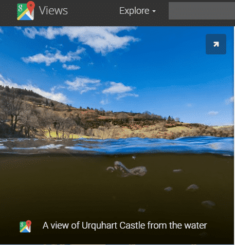 Google using its Street View cameras to help hunters search for the Loch Ness Monster