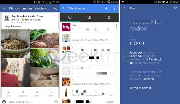 Facebook starts integrating Whatsapp into 'Facebook for Android' App