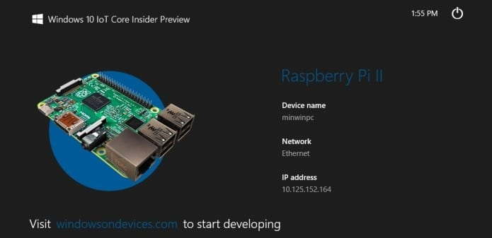 Windows 10 is now available on Raspberry Pi2, MinnowBoard Max, Intel Galileo and Arduino