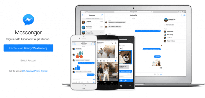 Facebook launches standalone Messenger for web browsers