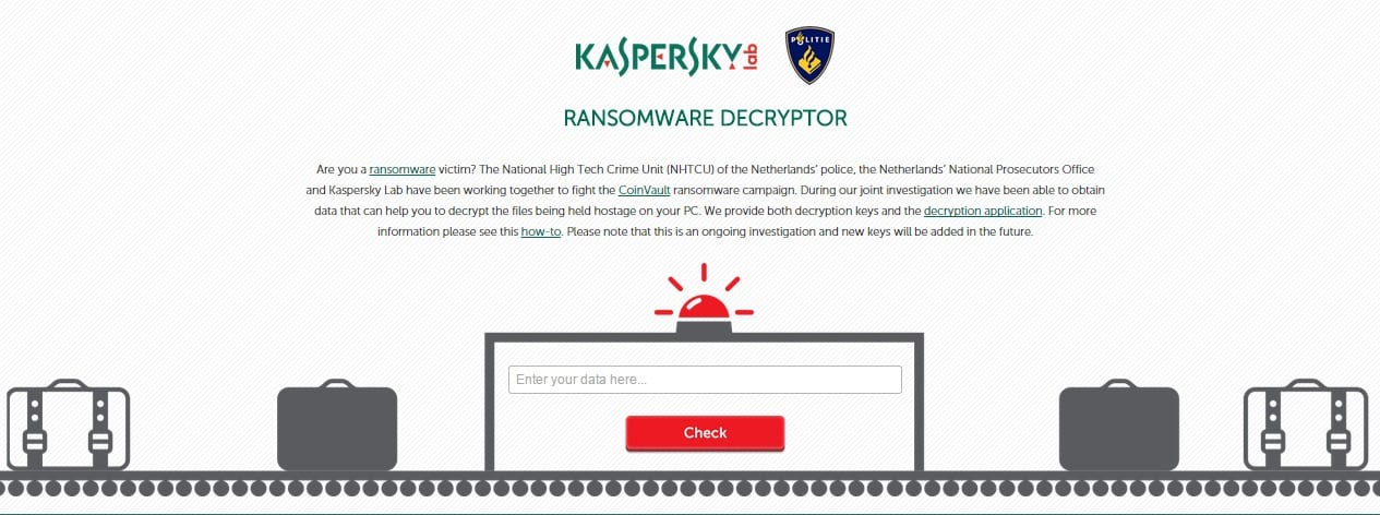 Kaspersky releases tools to decrypt files encrypted with CoinVault Ransomware