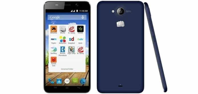 Micromax Canvas Play with 5.5 inch HD Display and Android Lollipop listed for Rs.7490.00