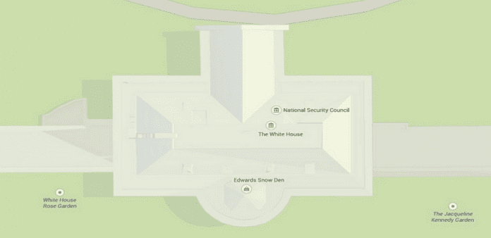 Google Maps hack shows Edward Snowden bang in the middle of Washington DC. in White House